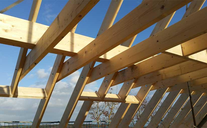 Unser Dachstuhl: Wie ein Ikea-Bausatz montiert.
