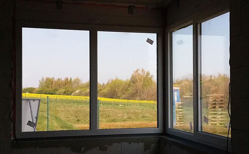 Eckfenster im Erker